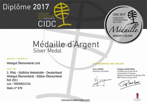 Silver Medal International Cabernet Award in Paris