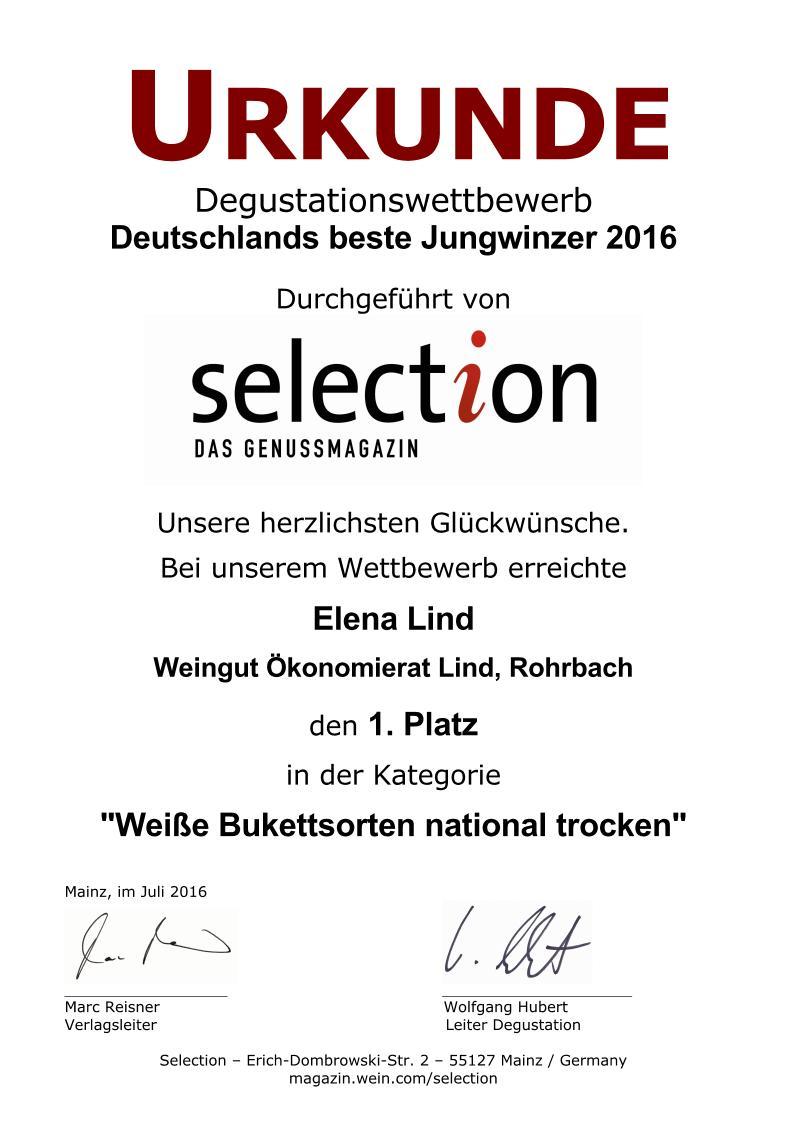 Urk. JuWis Einzelkategorien 2016