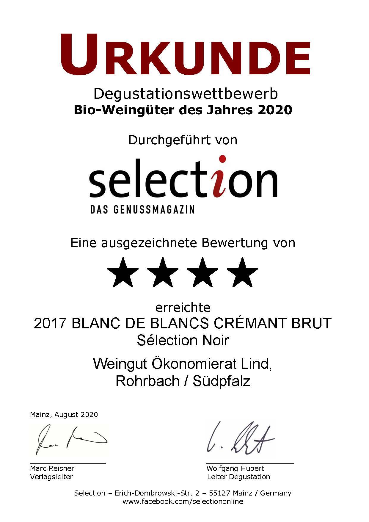 Nr. 33 - BLANC DE BLANCS CRÉMANT BRUT - 4 Sterne